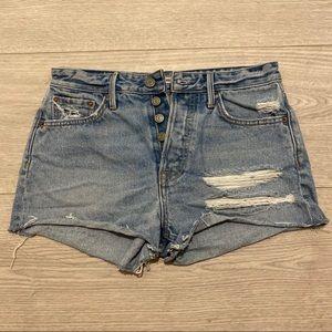 GRLFRND High Rise Denim Shorts